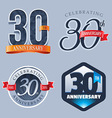 30 Years Anniversary Logo vector image vector image