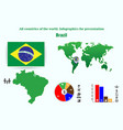 35 brazil all countries of the world vector image