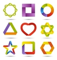 abstract creative signs set vector image vector image