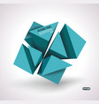 abstract of blue 3d cubes structure over white vector image vector image