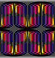abstract seamless op art pattern colorful vector image vector image