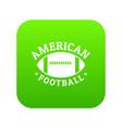 american football icon green vector image