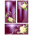 banners with rose vector image vector image