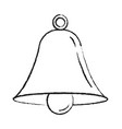 bell outline icon alarm vector image vector image