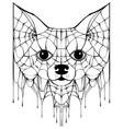 black spiderweb silhouette head dog halloween vector image vector image