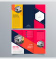 brochure design 1445 vector image vector image
