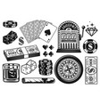casino and poker objects vintage elements vector image vector image