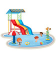 children at isolated water park vector image