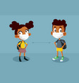 children going back to school during pandemic vector image