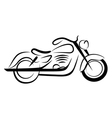 chopper motorcycle vector image