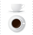 Coffee Cup Icons Top and Side View vector image vector image
