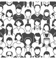 crowd people seamless pattern vector image vector image