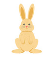 cute cartoon an easter bunny vector image