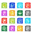 document icon set vector image vector image
