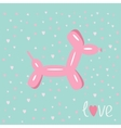 dog balloon animal pink hearts bue background love