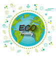 eco friendly design vector image vector image
