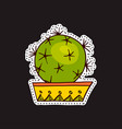 fashion patches brooches with cacti vector image