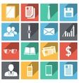 Flat business icons set vector image vector image
