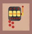 flat shading style icon slot machine winnings vector image vector image