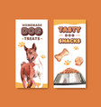 Flyer template with dogs design