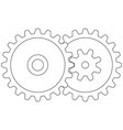 gear transmission vector image
