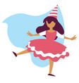 girl in fairy costume birthday party or carnival vector image vector image