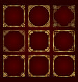 golden decorative vintage frames vector image vector image