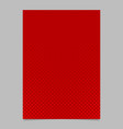 halftone pine tree pattern brochure template vector image vector image