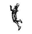 hand sketch basketball player vector image vector image