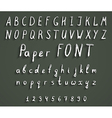 handwriting font vector image vector image