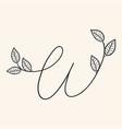 handwritten letter w monogram or logo brand vector image vector image
