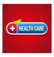 Health Care button vector image