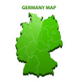 highly detailed three dimensional map of germany vector image vector image