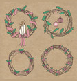 holiday wreaths vector image vector image