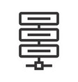 icon of server high-tech technology items vector image