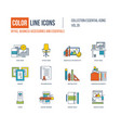 icons collection office business accessories vector image vector image