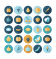 icons flat line food fruit vector image