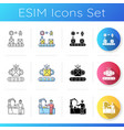 industrial work icons set vector image