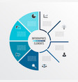 infographics business concept with 8 vector image vector image