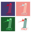 italy famous landmark silhouette tower of pisa vector image