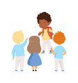kids mocking an african ameican boy bad behavior vector image vector image