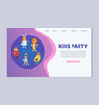 kids wearing party carnival costumes cute vector image