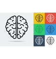line icon of brain vector image vector image