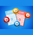lottery colored number balls and tickets vector image vector image