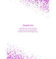 Magenta page corner design template vector image vector image