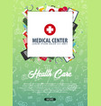medical center medical background health care vector image vector image