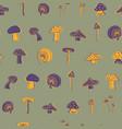 mushroom seamless pattern design vector image
