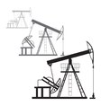 Oil production in the desert vector image vector image