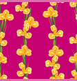 orange iris flower on pink background vector image vector image