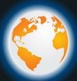 Orange Planet Earth Isolated on Blue Background